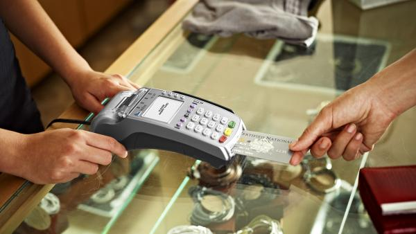 Vx520 DC EMV Credit Card Terminal and Swivel Stand