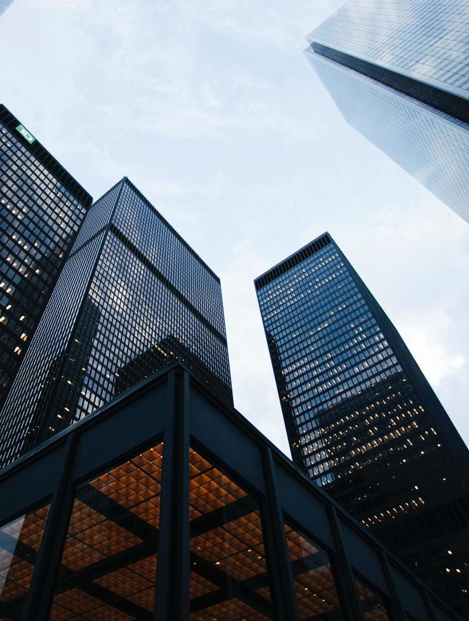 image of corporate buildings in financial district